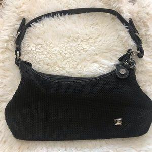 The Sak Black Woven Shoulder Bag